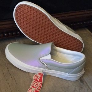 NWT Vans Classic Slip On Muted Metallic Sneakers